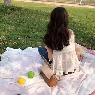 🚚 一字領娃娃甜美夏日背心