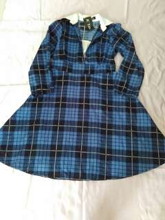 Dress tartan biru (baru)