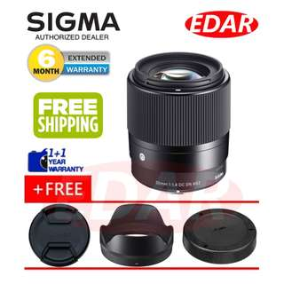 SIGMA 30MM F1.4 DC DN (FOR SONY E-MOUNT LENS) ««ORIGINAL & OFFICIAL SIGMA»»
