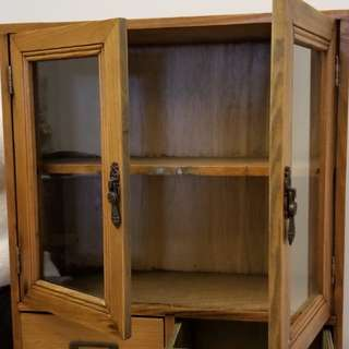 Vintage looking small cabinet for jewelry or trinkets