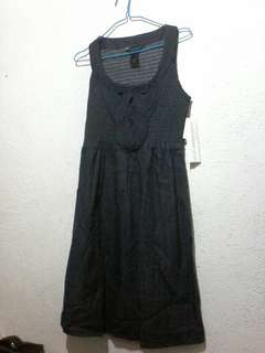 Womens Denim Dress Smocked cotton