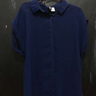 See through blouse (Navy blue)