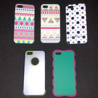 (5) iPhone 5/5s cases for 399