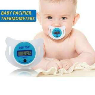 Thermometer Baby Pacifier - BLUE