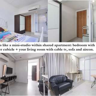 Studio style | Ensuite 1+1 at chinatown. Room code: 032