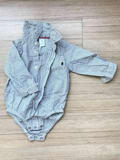 9Months Grey Shirt Romper