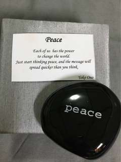 Paperweight: Peace in Black Stone