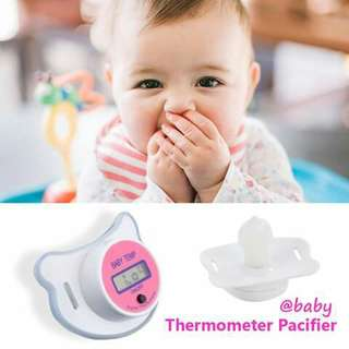 Thermometer Baby Pacifier - PINK