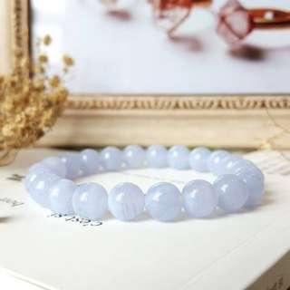 蓝纹玛瑙 - blue agate crystal