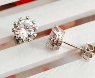925 silver 皇冠耳環