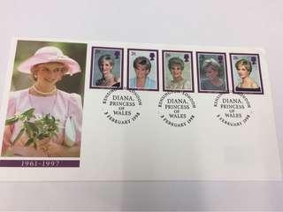 Diana 戴安娜王妃纪念郵票