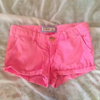 Abercrombie & Fitch Pink Shorts