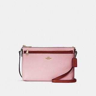 Coach粉紅色子母袋