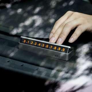 Temporary Parking Card - 汽車臨時停車牌 - 手機電話號碼牌 - T0111