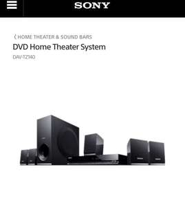 Sony DVD Home Theater System DAV TZ140