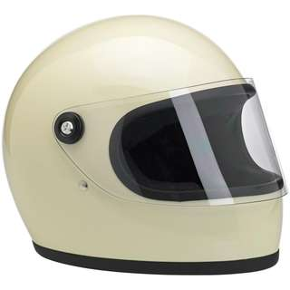 Biltwell Gringo S SIZE SMALL ONLY SOLID WHITE DOT Certified Full Face Motorcycle Motorbike Cafe Racer Helmet