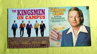 KINGSMEN ● KAI WARNER SINGERS . on campus / a glass of champagne. ( buy 1 get 1 free )   vinyl record