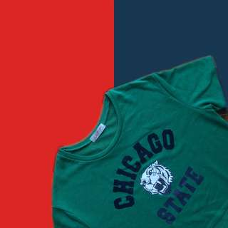 GREEN CHICAGO STATE CROP TOP