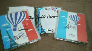 Binder A5 kertas File Karakter Paris