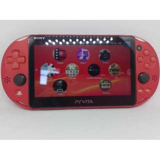 Ps Vita Console PCH-2006 Model 2k Software Version 3.65 Red (Used)