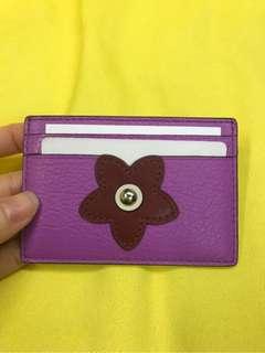 Coach紫色花卡片套