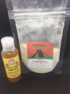Aztec Healing Clay Mask with 50ml apple cider vinegar