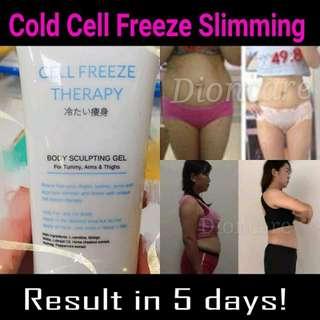 Cold freeze fat cells