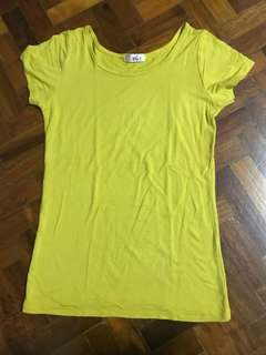 PLAIN BASIC YELLOW SHIRT TEE