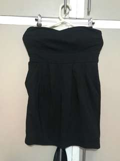 Forever 21 Black Mini Tube Dress