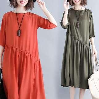 Plus Size Summer Loose Sleeve Dress