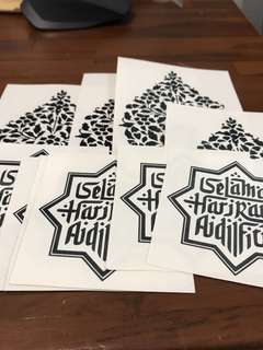Hari Raya decals stickers labels for decorating your jars cookies kueh