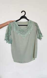Ladies top with lace