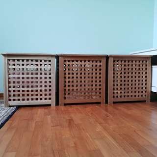 3 x IKEA Hol wooden box coffee storage table