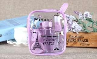 8pcs/Set Fashion Portable Travel Makeup Pouch