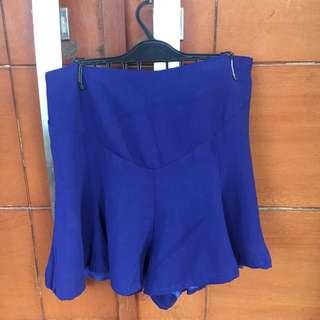 Blue pants skirt