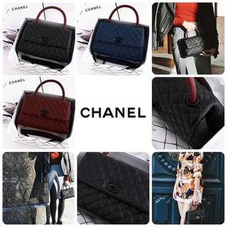 Chanel Coco Handle Caviar SO BLACK Bag Include Box