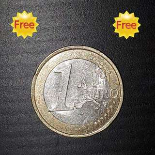FREE !!! (Zero Cost) : France 1 Euro Coin  (Issue Year 1999)