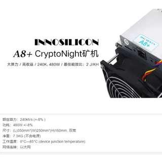 芯動 A8+  Cryptonight 礦機 + 電源