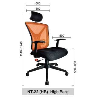Office chair/ Kerusi Pejabat Gavino (FREE SHIP)
