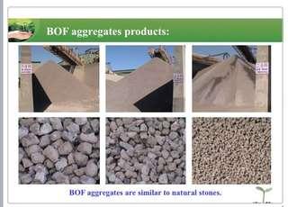 BOF Aggregates for road pavement