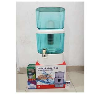 Mineral pot alat penyaringan air minum dengan kapasitas 28 liter bio energi