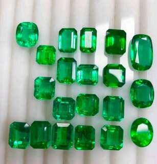 Emerald lot 90 cts