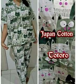 Piyama Celana Panjang Green Totoro