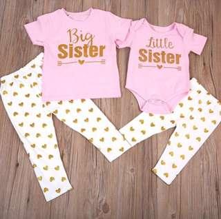 [PO] Sisters romper & T-shirt set