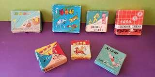 全套懷舊的康樂棋, 鬥獸棋, 飛機戰棋, 足球棋, 體育棋,中國象棋和 迷你象棋