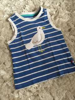 Blue stripe duck sleeveless