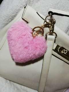 Heart Bag Charm (Baby Pink)