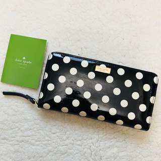 Kate Spade Patent Leather Dot Wallet