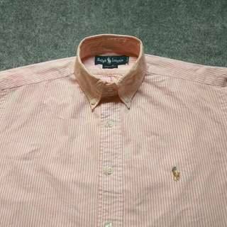 RALPH LAUREN Striped Oxford Shirt Long Sleeve Size XL