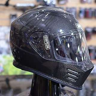 Simpson Carbon Fiber Fibre Ghost Bandit Helmet SIZE LARGE AND SMALL ONLY DOT Certified